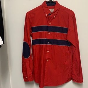 Brooks brothers red and navy button down